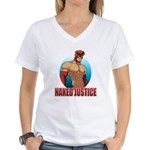 Naked Justice Women's V-Neck T-Shirt
