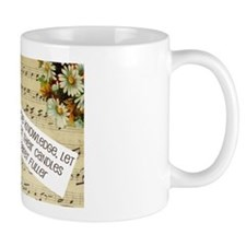 Knowledge Quote Collage Small Mug