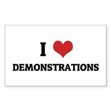 I Love Demonstrations Rectangle Decal