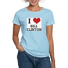 I Love Bill Clinton Women's Pink T-Shirt