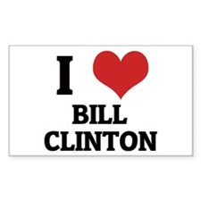 I Love Bill Clinton Rectangle Decal