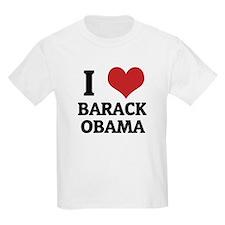 I Love Barack Obama Kids T-Shirt