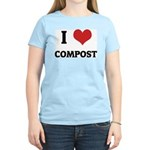 I Love Compost Women's Pink T-Shirt