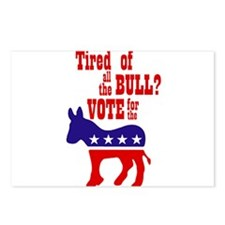 'Tired of All the Bull? Vote! Postcards (Package o