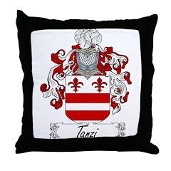 Tanzi Family Crest Throw Pillow