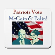 Patriots Vote McCain and Pali Mousepad