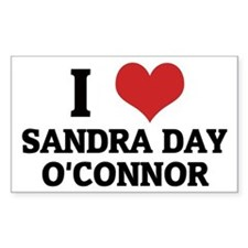 I Love Sandra Day O'Connor Rectangle Decal