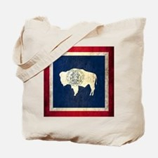Grunge Wyoming Flag Tote Bag