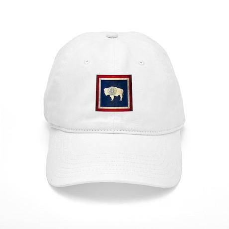 Grunge Wyoming Flag Cap