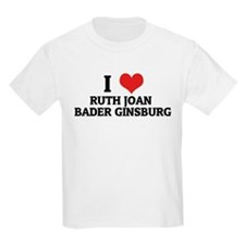 I Love Ruth Joan Bader Ginsbu Kids T-Shirt