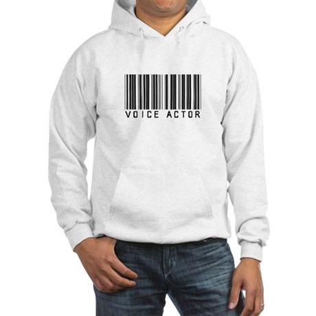 Voice Actor Barcode Hooded Sweatshirt