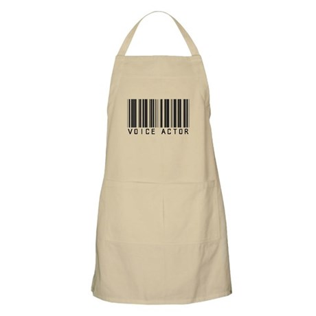 Voice Actor Barcode BBQ Apron