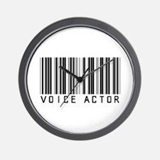 Voice Actor Barcode Wall Clock