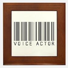 Voice Actor Barcode Framed Tile