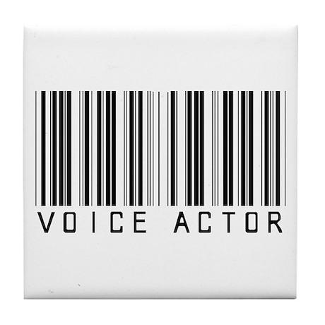 Voice Actor Barcode Tile Coaster