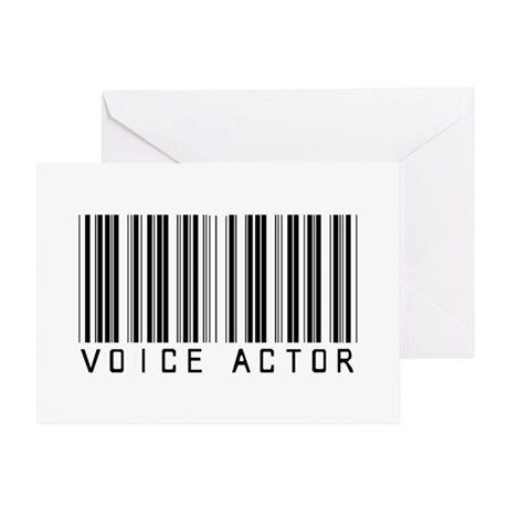Voice Actor Barcode Greeting Card
