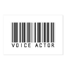 Voice Actor Barcode Postcards (Package of 8)