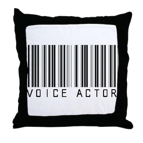 Voice Actor Barcode Throw Pillow