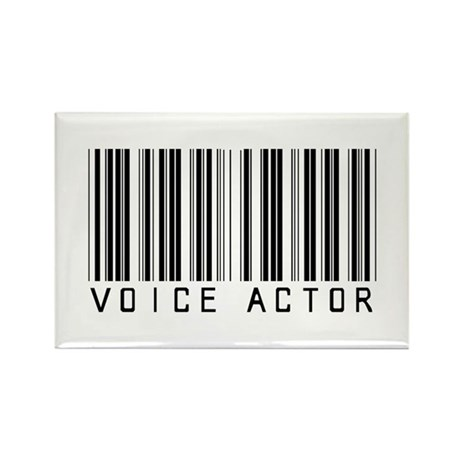 Voice Actor Barcode Rectangle Magnet (10 pack)