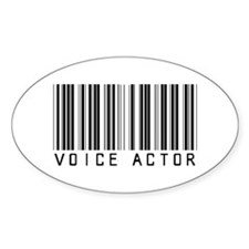 Voice Actor Barcode Oval Decal