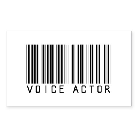 Voice Actor Barcode Rectangle Sticker