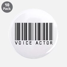 """Voice Actor Barcode 3.5"""" Button (10 pack)"""