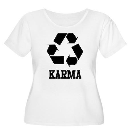 Karma Women's Plus Size Scoop Neck T-Shirt