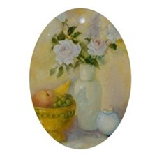 Roses and Fruit Oval Ornament