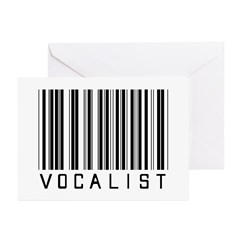 Vocalist Barcode Greeting Cards (Pk of 20)