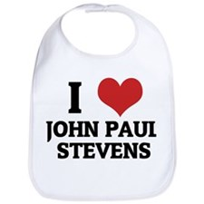 I Love John Paul Stevens Bib