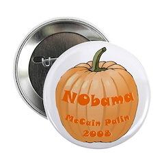 """NObama Jack-o-lantern 2.25"""" Button (10 pack)"""