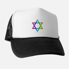 Gay Pride Star of David Trucker Hat