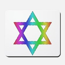 Gay Pride Star of David Mousepad
