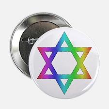 """Gay Pride Star of David 2.25"""" Button"""