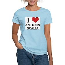 I Love Antonin Scalia Women's Pink T-Shirt