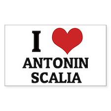 I Love Antonin Scalia Rectangle Decal