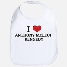 I Love Anthony McLeod Kennedy Bib