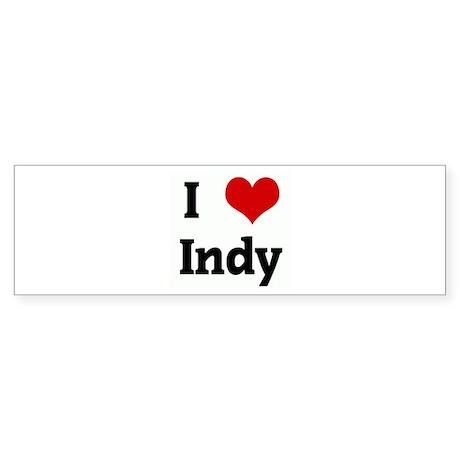 I Love Indy Bumper Sticker