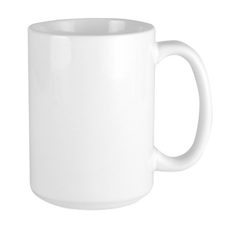 Brown Caffeine Molecule Large Mug
