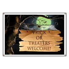 Creepy Trick or Treaters Welcome! Banner