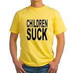 Children Suck Yellow T-Shirt