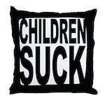 Children Suck Throw Pillow