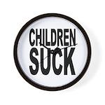 Children Suck Wall Clock