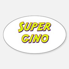 Super gino Oval Decal