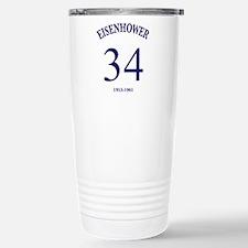 Dwight D Eisenhower Stainless Steel Travel Mug