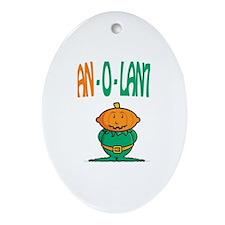 Logan-O-Lantern Oval Ornament