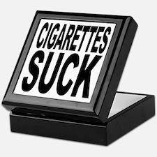 Cigarettes Suck Keepsake Box