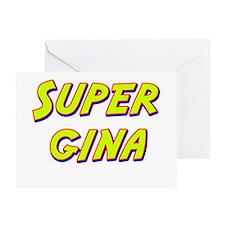 Super gina Greeting Card