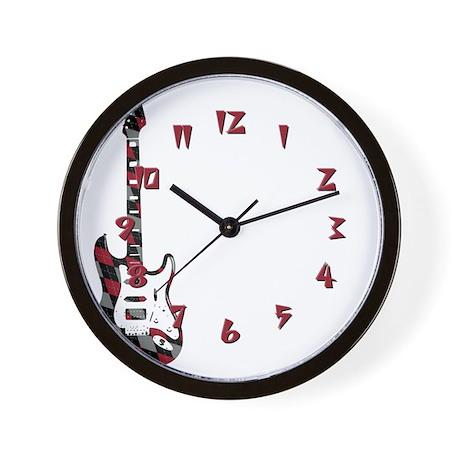 Argyle Electric Guitar Wall Clock