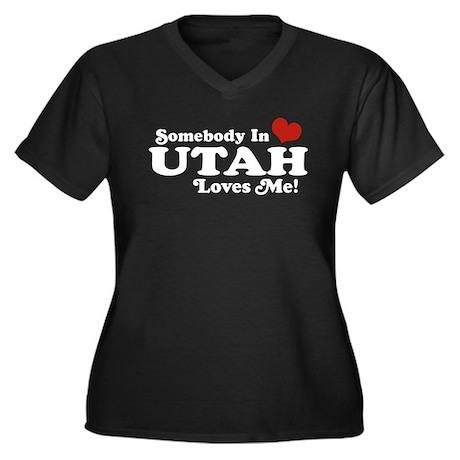 Somebody In Utah Loves Me Women's Plus Size V-Neck